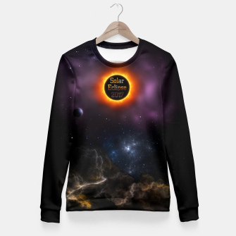 Solar Eclipse 2017 Nebula Bloom Fractal Art Fitted Waist Sweater thumbnail image
