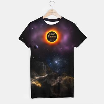 Thumbnail image of Solar Eclipse 2017 Nebula Bloom Fractal Art T-shirt, Live Heroes