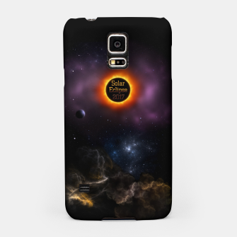 Thumbnail image of Solar Eclipse 2017 Nebula Bloom Fractal Art Samsung Case, Live Heroes