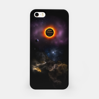 Thumbnail image of Solar Eclipse 2017 Nebula Bloom Fractal Art iPhone Case, Live Heroes