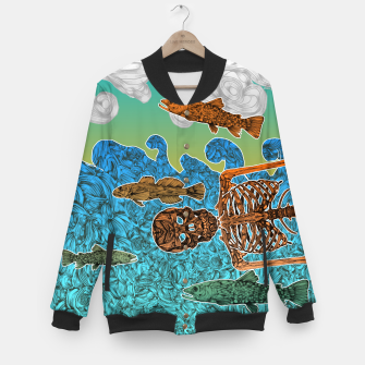Miniature de image de Vacations of a Skeleton whit his friends...the fish Baseball Jacket, Live Heroes