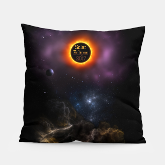 Thumbnail image of Solar Eclipse 2017 Nebula Bloom Fractal Art Pillow, Live Heroes