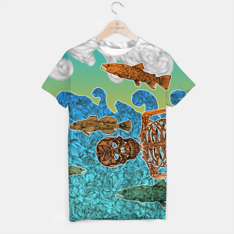 Miniaturka Vacations of a Skeleton whit his friends...the fish T-shirt, Live Heroes