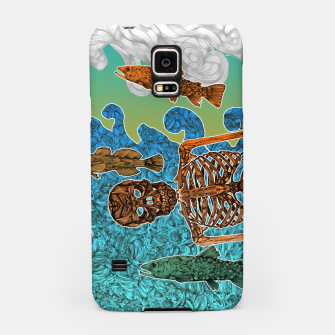 Miniaturka Vacations of a Skeleton whit his friends...the fish Samsung Case, Live Heroes