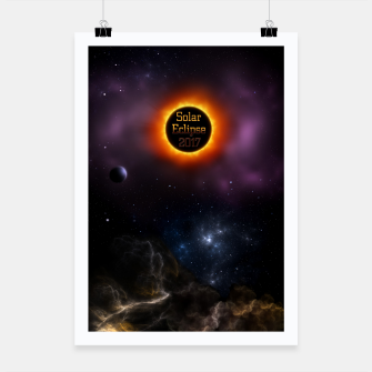 Thumbnail image of Solar Eclipse 2017 Nebula Bloom Fractal Art Poster, Live Heroes