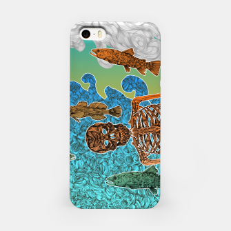 Miniaturka Vacations of a Skeleton whit his friends...the fish iPhone Case, Live Heroes