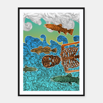 Miniaturka Vacations of a Skeleton whit his friends...the fish Framed poster, Live Heroes