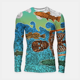 Miniaturka Vacations of a Skeleton whit his friends...the fish Longsleeve Rashguard , Live Heroes