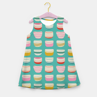Thumbnail image of Bowl pattern Girl's Summer Dress, Live Heroes