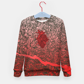 Thumbnail image of Complex Heart Kid's Sweater, Live Heroes