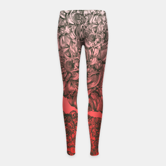 Thumbnail image of Complex Heart Girl's Leggings, Live Heroes