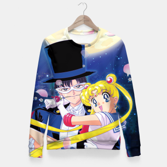 Miniaturka Tuxedo Kamen & Sailor Moon Fitted Waist Sweater, Live Heroes