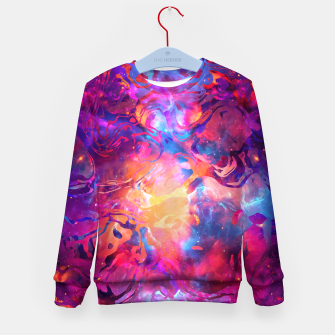 Thumbnail image of Marble Nebula Kid's Sweater, Live Heroes