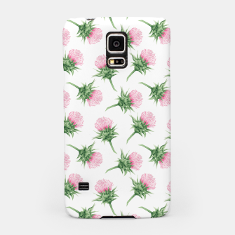 Miniaturka Pink thistle - watercolor pattern Samsung Case, Live Heroes