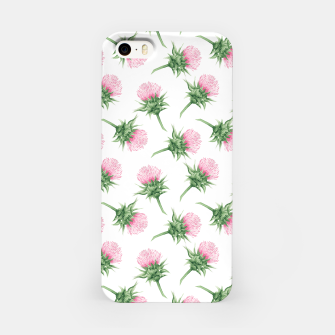 Thumbnail image of Pink thistle - watercolor pattern iPhone Case, Live Heroes