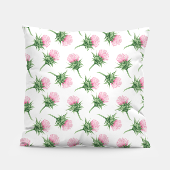 Miniaturka Pink thistle - watercolor pattern Pillow, Live Heroes