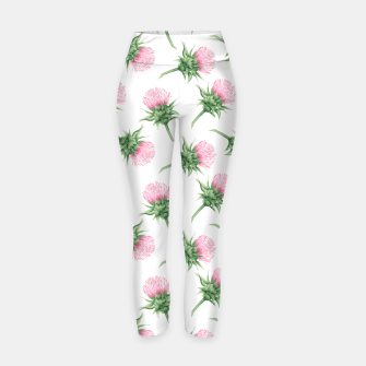 Thumbnail image of Pink thistle - watercolor pattern Yoga Pants, Live Heroes