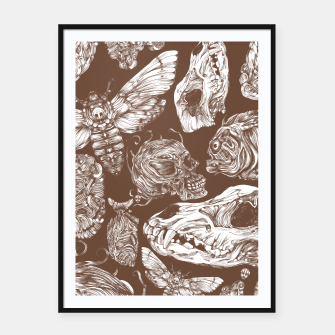 Thumbnail image of Bones in Brown Framed poster, Live Heroes