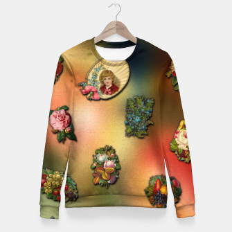 Miniatur VinClip Classic Art Fitted Waist Sweater, Live Heroes