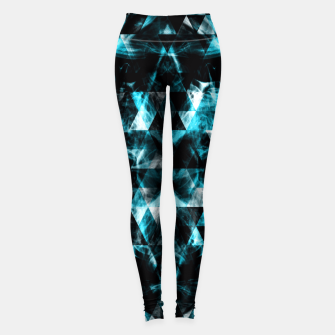 Thumbnail image of Electrifying blue sparkly triangle flames Leggings, Live Heroes