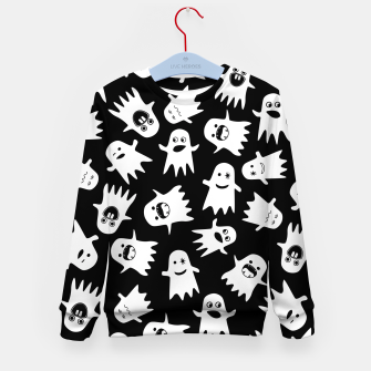 Thumbnail image of Halloween Hauntings Kid's Sweater, Live Heroes