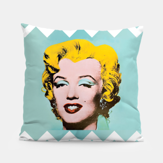 Thumbnail image of marilyn monroe andy warhol Pillow, Live Heroes