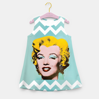 Thumbnail image of marilyn monroe andy warhol Girl's Summer Dress, Live Heroes