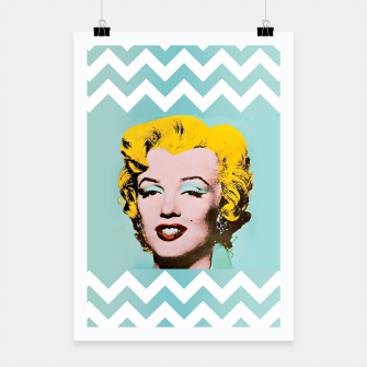 Thumbnail image of marilyn monroe andy warhol Poster, Live Heroes