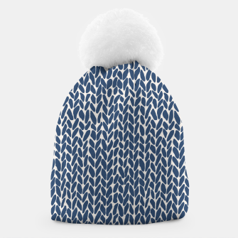 Miniatur Hand Knit Navy  Beanie, Live Heroes