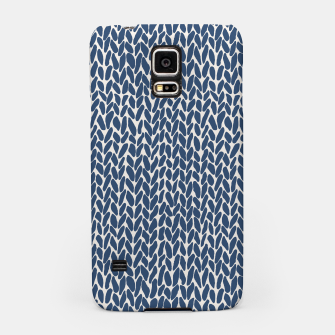 Miniatur Hand Knit Navy  Samsung Case, Live Heroes