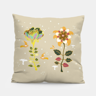 Thumbnail image of 2 Flowers Pillow, Live Heroes