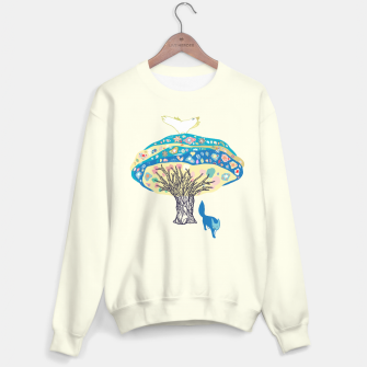 Thumbnail image of tree and fox Sweater, Live Heroes