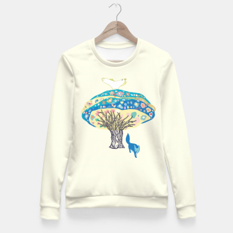 Miniaturka tree and fox Fitted Waist Sweater, Live Heroes