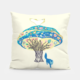 Thumbnail image of tree and fox Pillow, Live Heroes