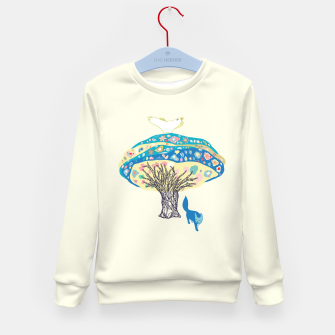 Thumbnail image of tree and fox Kid's Sweater, Live Heroes