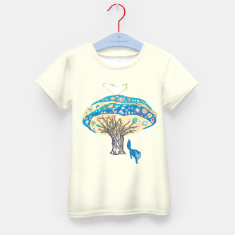 Thumbnail image of tree and fox Kid's T-shirt, Live Heroes