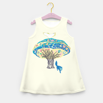 Thumbnail image of tree and fox Girl's Summer Dress, Live Heroes