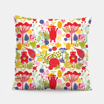Thumbnail image of Bear forrest Pillow, Live Heroes