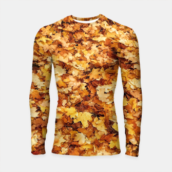 Thumbnail image of Gold yellow fall maple leaves Longsleeve Rashguard , Live Heroes