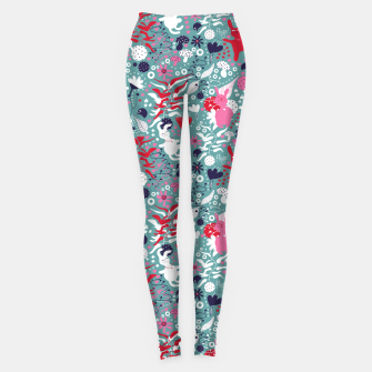 Thumbnail image of Cuddly bunny forrest Leggings, Live Heroes