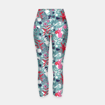 Thumbnail image of Cuddly bunny forrest Yoga Pants, Live Heroes