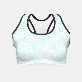 Thumbnail image of White leaves Crop Top, Live Heroes