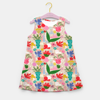 Thumbnail image of For the snails - Pattern Girl's Summer Dress, Live Heroes