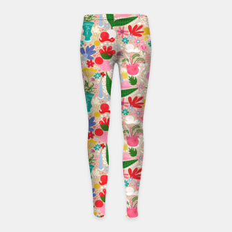 Miniaturka For the snails - Pattern Girl's Leggings, Live Heroes