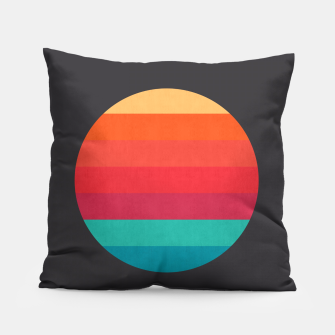 Thumbnail image of Retro sunset Pillow, Live Heroes