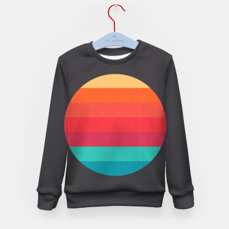 Thumbnail image of Retro sunset Kid's Sweater, Live Heroes