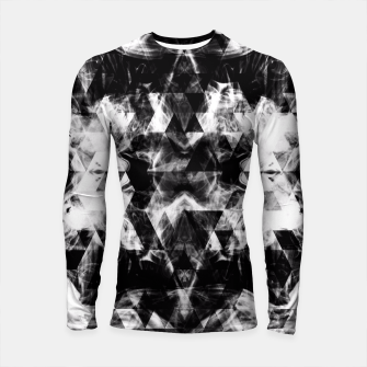 Thumbnail image of Electrifying black and white sparkly triangle flames  Longsleeve Rashguard , Live Heroes