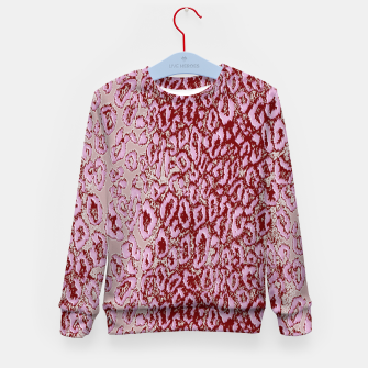 Thumbnail image of  Pink leopard Kid's Sweater, Live Heroes