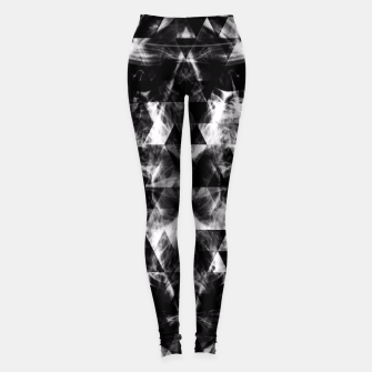 Thumbnail image of Electrifying black and white sparkly triangle flames  Leggings, Live Heroes