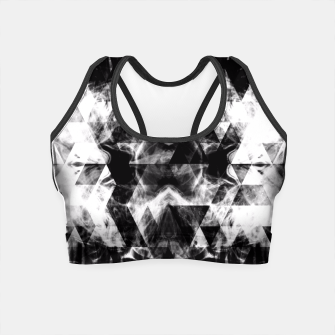 Thumbnail image of Electrifying black and white sparkly triangle flames  Crop Top, Live Heroes